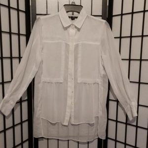 Kenneth Cole Sheer Blouse sz S